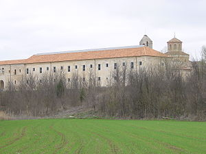 Valbuena Abbey - Façade of the guest wing.