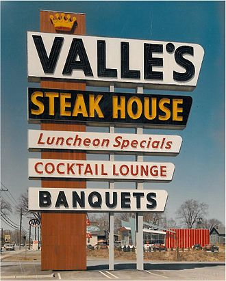 Steakhouse - Valle's Steak House's iconic signs once spanned the East Coast from Maine to Florida.
