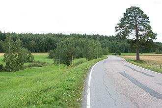 Pöytyä - Image: Vanha Tampereentie Poytyalla