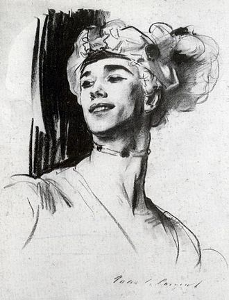 The Rite of Spring - Nijinsky in 1911, depicted by John Singer Sargent in costume for his role in Nikolai Tcherepnin's ballet Le Pavillon d'Armide