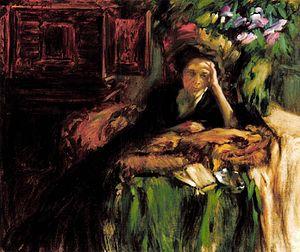 Ilona Andrássy - Portrait by János Vaszary (1905)