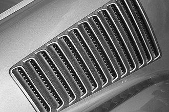 Bullitt - Vent grille on '67-'68 fastback Mustang