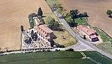 Verfeil (Haute-Garonne) - église Saint-Sernin-des-Rais- vue aérienne.jpg