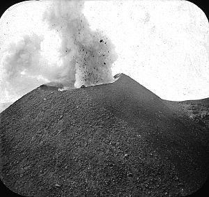 Mount Vesuvius - Vesuvius erupting. Brooklyn Museum Archives, Goodyear Archival Collection