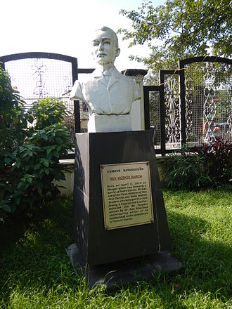 Vicente García - Image: Vicente Garcia bust and plaque at the Historical Park