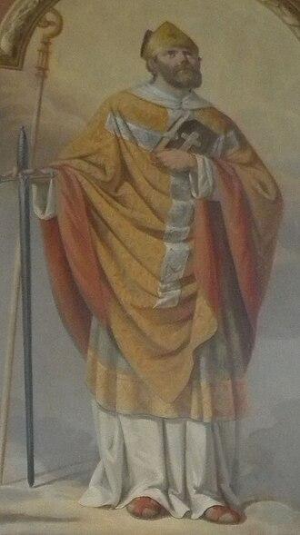 Victorinus of Pettau - Victorinus on a fresco in the parish church of Nova Cerkev (Slovenia)