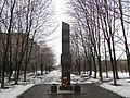 Victory Park in Lobnya. The monument dedicated to mariner corps from Pacific ocean and Red Army men from Siberia that have fou - panoramio.jpg