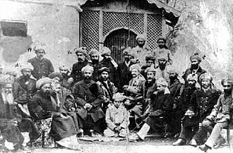 Shahzada Rehmatullah Khan Saddozai - Durrani commanders after their victory at the Battle of Maiwand.