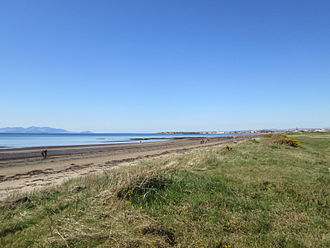 Royal Troon Golf Club - Image: View from edge of Royal Troon golf course