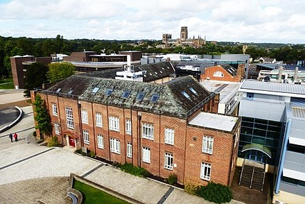 View over the university's Mountjoy site towards the cathedral. View from the 4th floor of the Calman centre.jpg