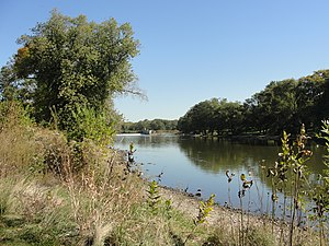 Montgomery, Illinois - Image: View of Fox River from Montgomery IL