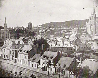 Church of St. Andrew and St. Paul - St. Andrew's Church (centre left) seen in 1852.