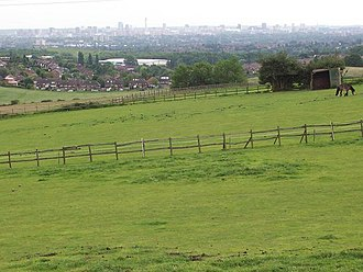 Pheasey - Pheasey seen from Barr Beacon, with Birmingham in the background