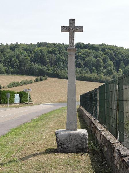 Vignot (Meuse) croix de chemin recto