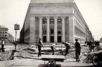 Economy of Croatia - Zagreb Stock Exchange Palace in 1927