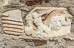 Villach Gratschach Filialkirche hll Philippus und Jakobus Pilasterfragment Tritonrelief 14042017 7534.jpg