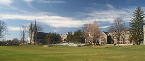 Villanova University - A panoramic view of the Main Campus in early spring