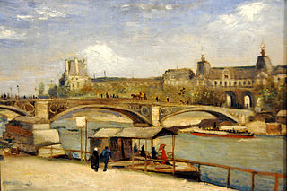 Pont du Carrousel and the Louvre