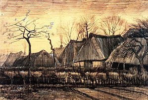 Farms near Auvers - Thatched Roofs, Neunen 1884