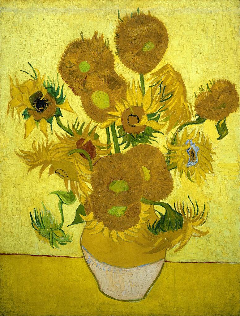 Tournesols de Van Gogh à Amsterdam (1889).