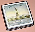 Vintage Souvenir Women's Powder Compact From The Statue Of Liberty, Measures Two Inches Square (20673601294).jpg