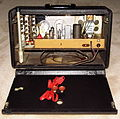 Vintage Zenith Trans-Oceanic Vacuum Tube Radio, Model G-500, Circa 1949 (14543023571).jpg