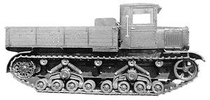 T-24 tank - Voroshilovets heavy artillery tractor