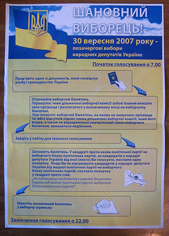 Ukrainian parliamentary election, 2007 - Voting process overview.