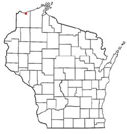 Vị trí trong Quận Douglas, Wisconsin