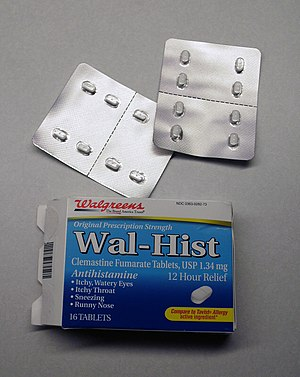 Store brand - Wal-Hist, store-brand antihistamine medication from Walgreens