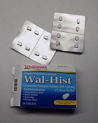 Private label - Wal-Hist, store-brand antihistamine medication from Walgreens