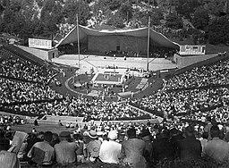 Waldbühne lelátói az 1936. évi nyári olimpiai játékok alatt. Fortepan 16315 FOTO:FORTEPAN / Vass Károly, CC BY-SA 3.0 <https://creativecommons.org/licenses/by-sa/3.0>, via Wikimedia Commons