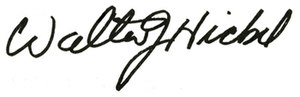 Wally Hickel - Image: Walter J. Hickel signature