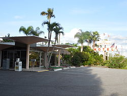 Warm Mineral Springs Motel office view with sign.JPG