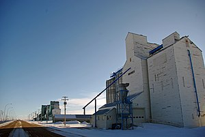 Prairies Ecozone - a grain elevator, for storing farmed grains typical on the Prairie