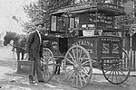 J. R. Watkins with horse and buggy sales wagon