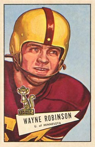 Wayne Robinson - Robinson on a 1952 Bowman football card