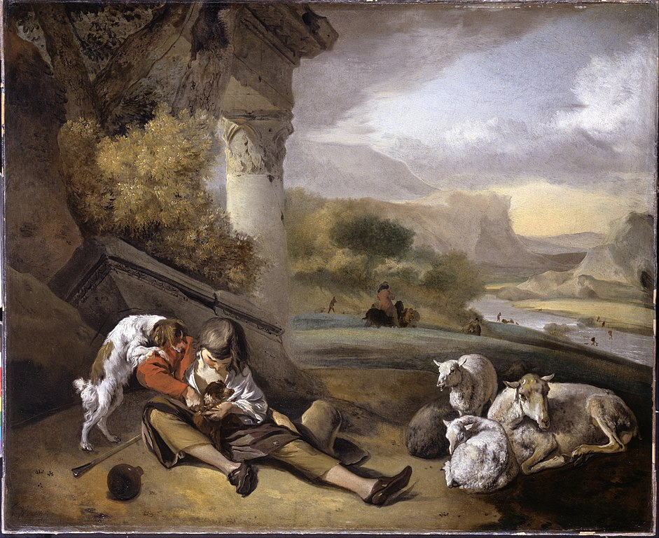 File Weenix Jan Landscape With Shepherd Boy Google