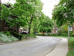 Looking south down Wells Hill Avenue in Casa Loma neighbourhood