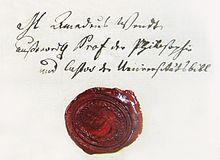 Autograph und Siegel von Amadeus Wendt von 1811 (Quelle: Wikimedia)