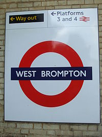West Brompton stn District roundel.JPG