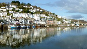 Looe - West Looe viewed across the river from East Looe