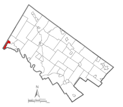 Location of West Pottsgrove Township in Montgomery County
