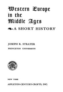 Western Europe in the Middle Ages.djvu