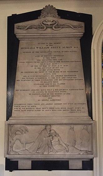 William Bruce Almon - William Bruce Almond monument, St. Paul's Church (Halifax), Nova Scotia
