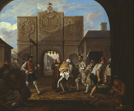 The Gate of Calais, an anti-French satire by William Hogarth, 1748