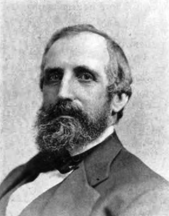 William S. Ladd - Pioneer Portland Oregon Businessman and Founder of Portland's First Bank  Photo circa 1870