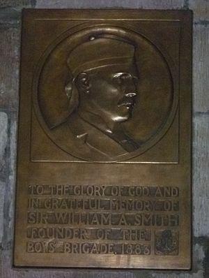 William Alexander Smith (Boys' Brigade) - William Smith memorial plaque in St. Giles, Edinburgh