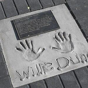 Willie Dunn - Hand print, Aboriginal Walk of Honour, Edmonton AB