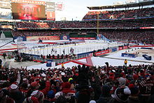 Troy Brouwer just scored the game-winning goal at the 2015 NHL Winter  Classic. Capitals players and fans celebrate. b459ed593